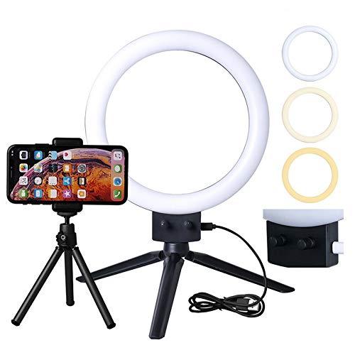 Studio Lighting For Streaming: 7″ LED Selfie Ring Light Kit With Tripod Stand, Phone